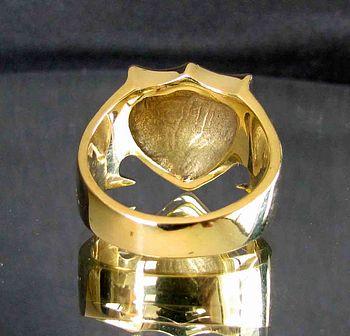 bronze ring drachen schild england rotes kreuz swissringshop. Black Bedroom Furniture Sets. Home Design Ideas