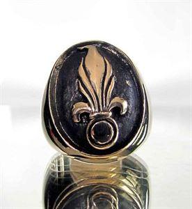 Bild von Bronze Ring Französische Fremdenlegion Granate, Söldner, Fallschirmjäger