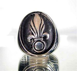 Bild von Sterling Silber Ring Französische Fremdenlegion Granate, Söldner, Fallschirmjäger