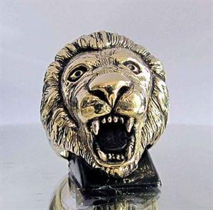 Bild von Bronze Ring mit Kopf eines Löwen, König der Tiere