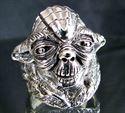 Bild von Sterling Silber Ring Star Wars Yoda Jedi Meister Krieg der Sterne