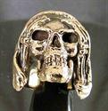 Bild von Bronze Ring Grimmiger Sensenmann Totenkopf nicht hören