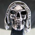 Bild von Sterling Silber Ring Grimmiger Sensenmann Totenkopf nicht hören