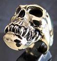 Bild von Bronze Ring Zombie Totenkopf Kanibale Menschenfresser