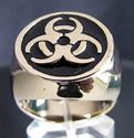 Bild von Bronze Ring mit Biologischem Gift Müll Symbol, Schwarz