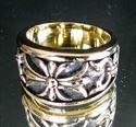 Bild von Bronze Band Ring mit Kreuzlilie Fleur de Lis Tempelritter Pfadfinder