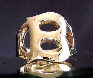 Bild von Bronze Ring mit Grossbuchstabe B, Initialen