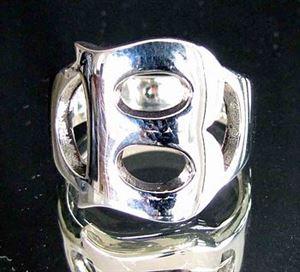 Bild von Sterling Silber Ring mit Grossbuchstabe B, Initialen