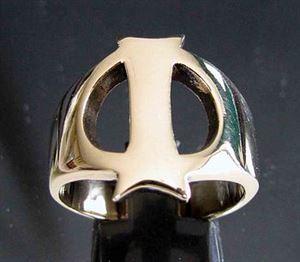 Bild von Bronze Ring mit Grossbuchstabe I, Initialen