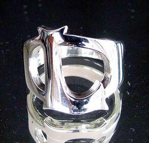 Bild von Sterling Silber Ring mit Grossbuchstabe L, Initialen